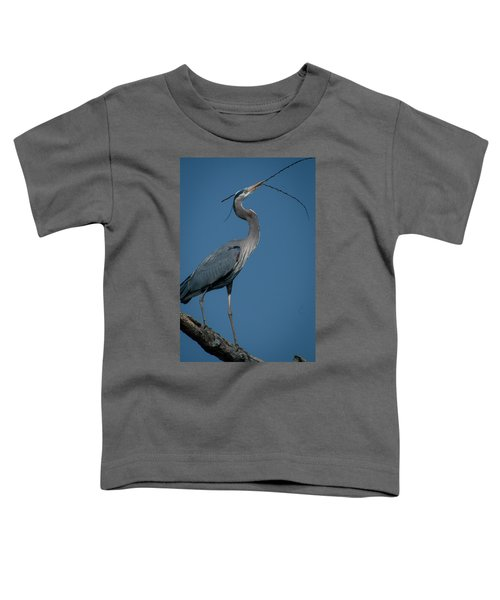Toddler T-Shirt featuring the photograph Blue Heron 2011-0322 by Donald Brown