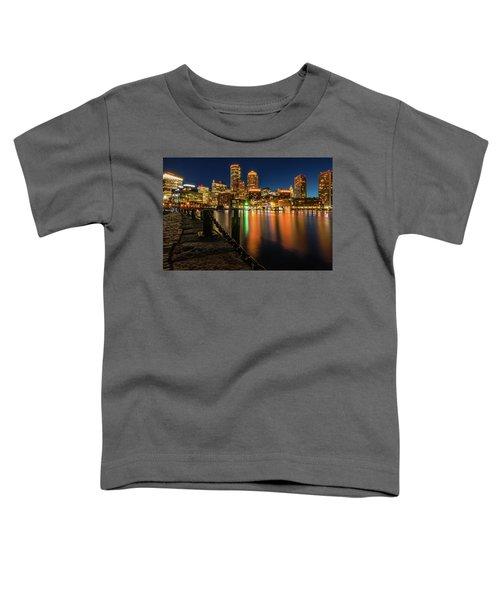 Blue Hour At Boston's Fan Pier Toddler T-Shirt