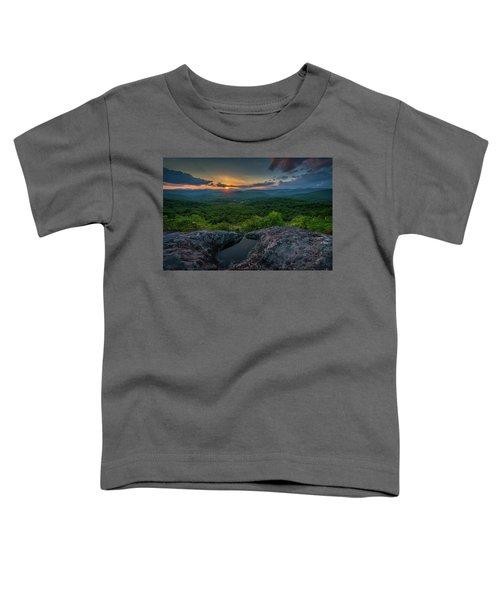 Blue Ridge Mountain Sunset Toddler T-Shirt