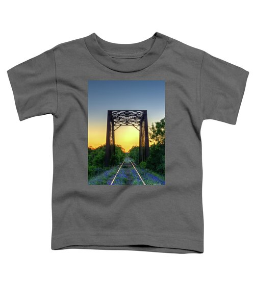 Bluebonnets On The Abandoned Railroad Toddler T-Shirt