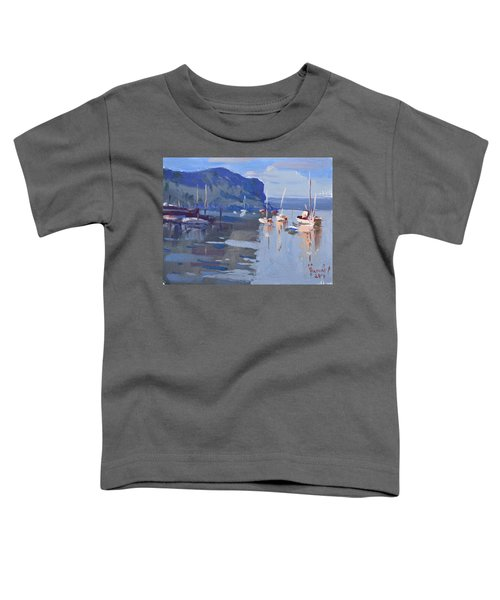 Boats At Hudson River In Rockland County Toddler T-Shirt