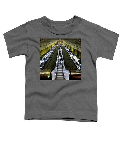 Bright Lights, Tall Escalators Toddler T-Shirt
