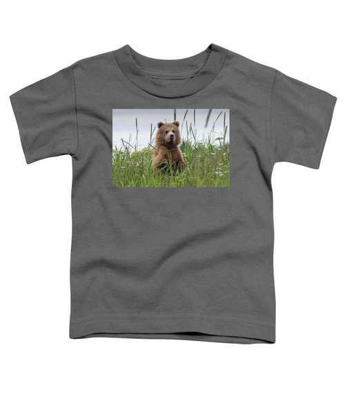 Brown Bear Cub In A Meadow Toddler T-Shirt