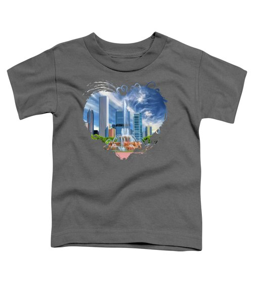Buckingham Fountain Chicago Skyscrapers Toddler T-Shirt
