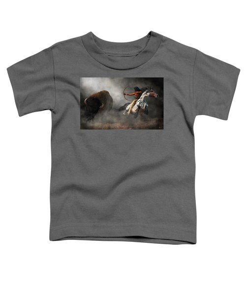 Buffalo Hunt Toddler T-Shirt