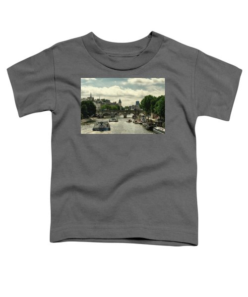 Busy Morning On The Seine Toddler T-Shirt