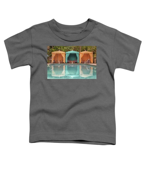Toddler T-Shirt featuring the photograph Cabanas by Alison Frank