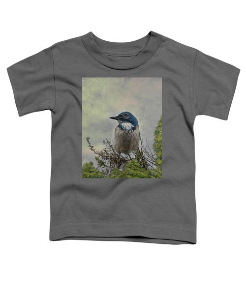 California Scrub Jay - Vertical Toddler T-Shirt