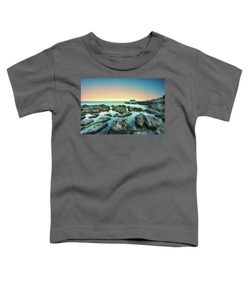 Calm Rocky Coast In Greece Toddler T-Shirt