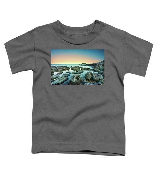 Calm Rocky Coast In Greece Toddler T-Shirt