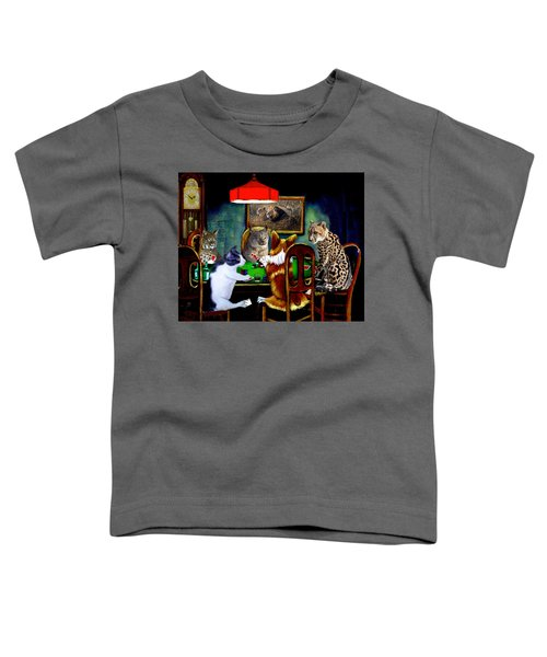 Cats Are Wild Poker Toddler T-Shirt