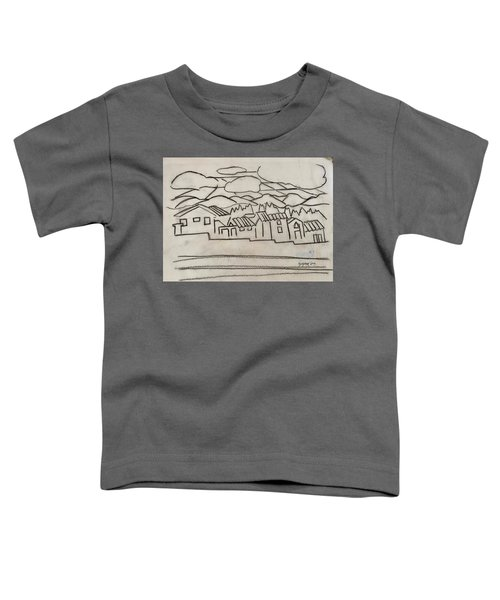 Charcoal Houses Sketch Toddler T-Shirt