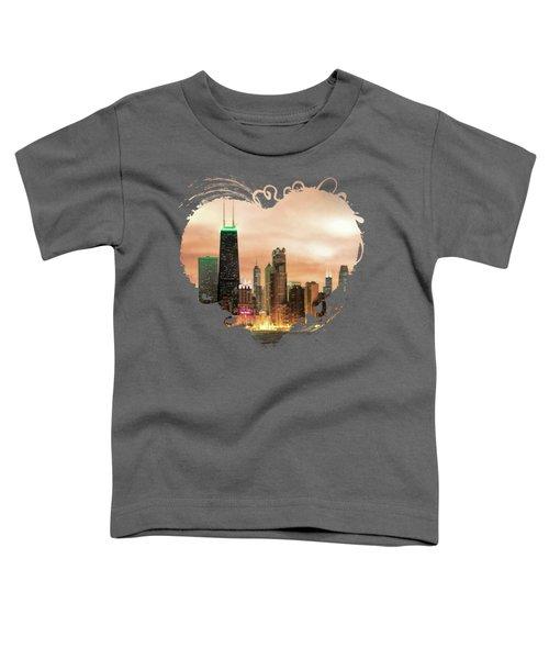 Chicago Gotham City Skyline Panorama Toddler T-Shirt