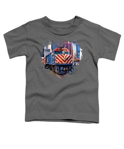 Chicago Metra Train Downtown Toddler T-Shirt