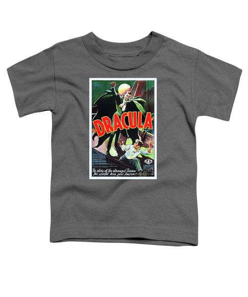 Classic Movie Poster - Dracula Toddler T-Shirt
