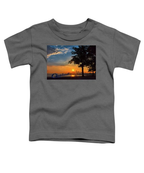 Cleveland Sign Sunrise Toddler T-Shirt