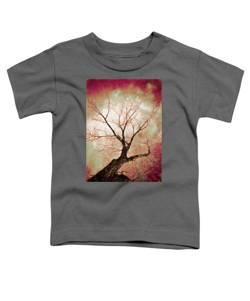 Toddler T-Shirt featuring the photograph Climbing Red Fiery by James BO Insogna