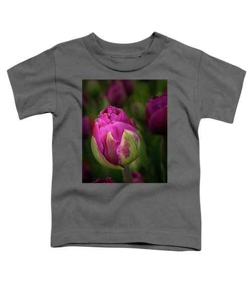 Closed Pink Tulip Toddler T-Shirt