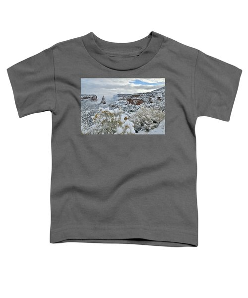 Clouds Break Over Snow Covered Independence Canyon Toddler T-Shirt