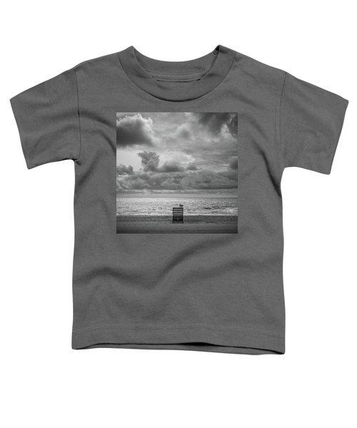 Cloudy Morning Rough Waves Toddler T-Shirt