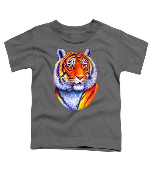 Fiery Beauty - Colorful Bengal Tiger Toddler T-Shirt
