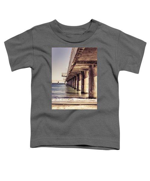 Columns Of Pier In Burgas Toddler T-Shirt