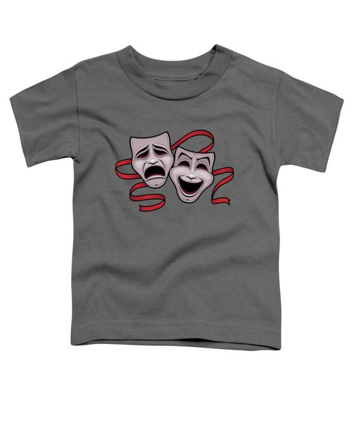 Comedy And Tragedy Theater Masks Toddler T-Shirt