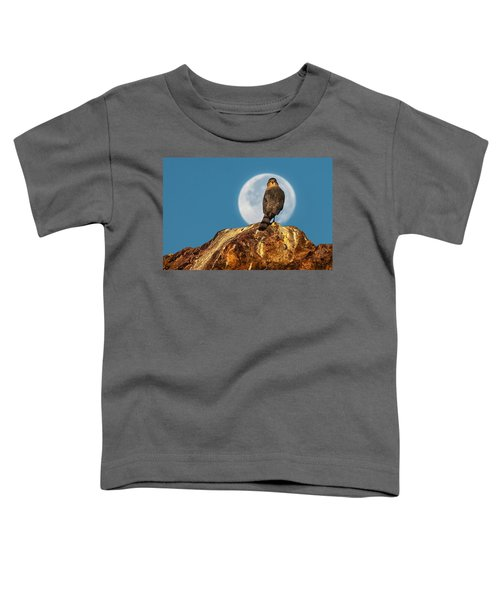 Coopers Hawk With Moon Toddler T-Shirt