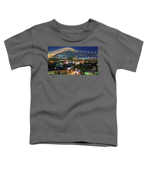 Coronado Bay Bridge Shines Brightly As An Iconic San Diego Landmark Toddler T-Shirt