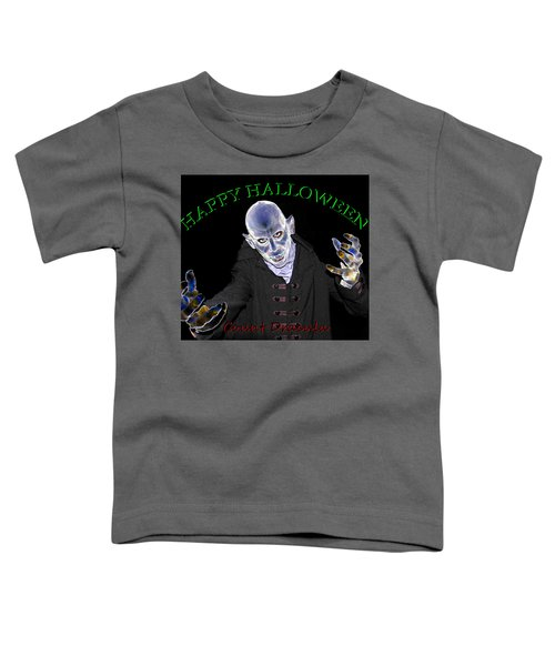 Count Dracula Halloween Card Toddler T-Shirt