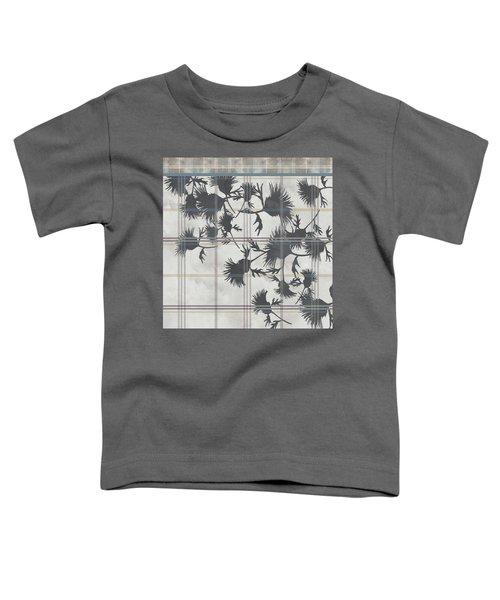 Cream Thistle Plaid Contrast Border Toddler T-Shirt