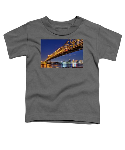 The Crescent City Bridge, New Orleans  Toddler T-Shirt