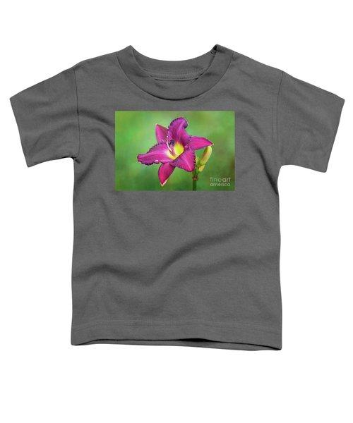 Glorious Crimson Daylily Toddler T-Shirt