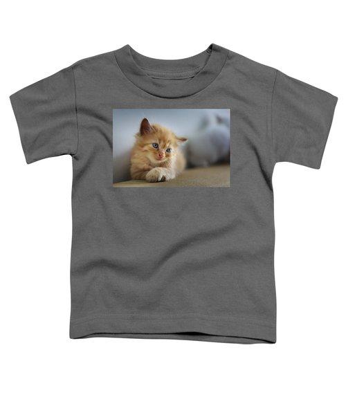 Cute Orange Kitty Toddler T-Shirt
