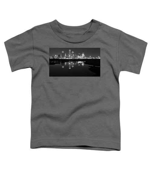 Dallas Texas Cityscape Reflection Toddler T-Shirt