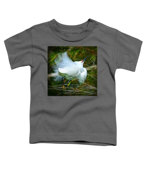 Dancing Egret Toddler T-Shirt