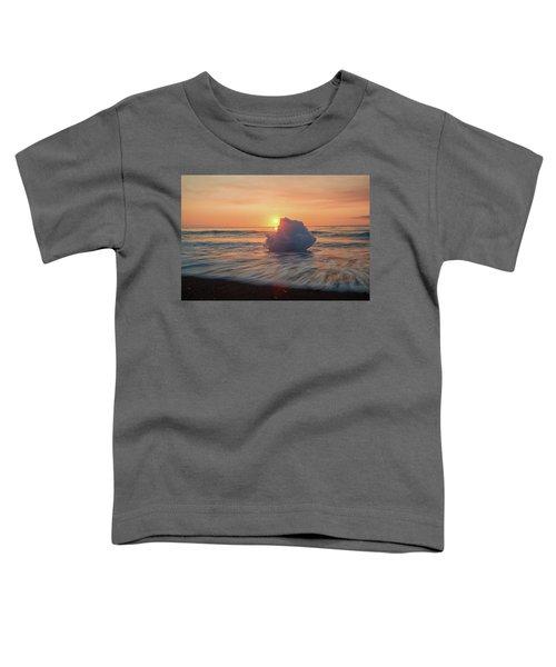 Diamond Beach Sunrise Iceland Toddler T-Shirt