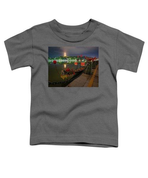 Docked Dragon Boat At Night I Toddler T-Shirt