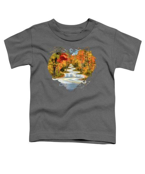 Door County Road To Northport In Autumn Toddler T-Shirt