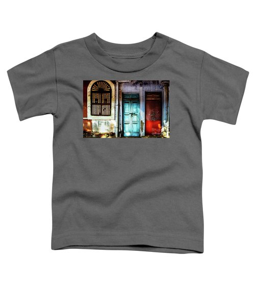 Doors Of India - Blue Door And Red Door Toddler T-Shirt