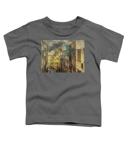 Downhill, Downtown, Prague Toddler T-Shirt