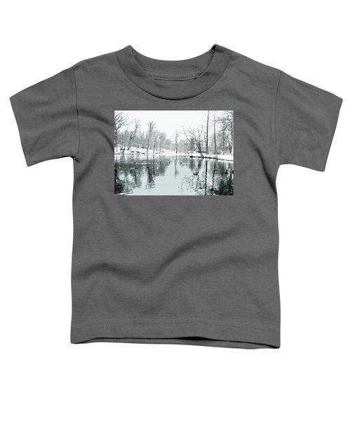 Ducks Swimming In Winter Toddler T-Shirt