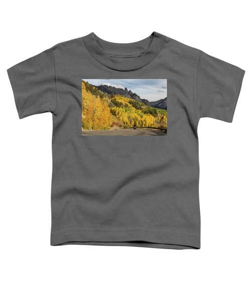 Toddler T-Shirt featuring the photograph Easy Autumn Rider by James BO Insogna