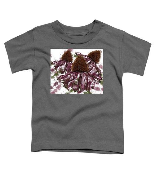 Echinacea Flowers Line Toddler T-Shirt