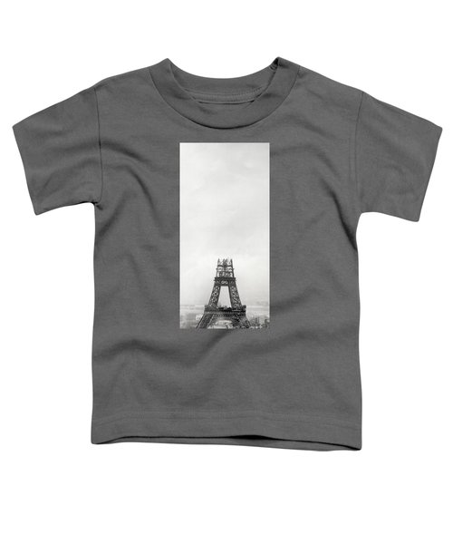 Eiffel Tower Being Built, Paris, 14th October And 14th November 1888 Toddler T-Shirt