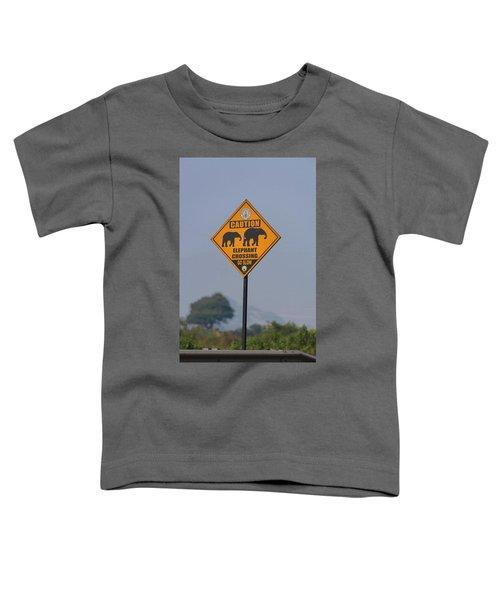 Elephant Crossing Toddler T-Shirt