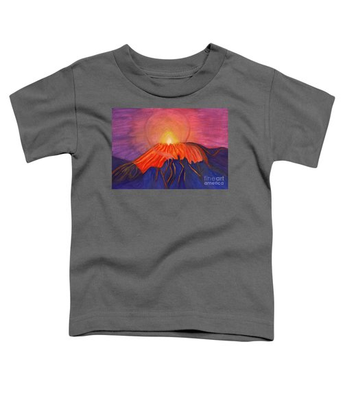 Glow Fading Volcano Toddler T-Shirt