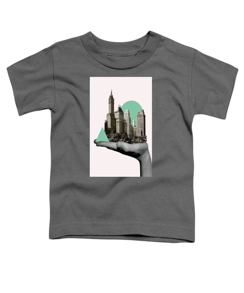 Exquisite Buildings On Palm Toddler T-Shirt