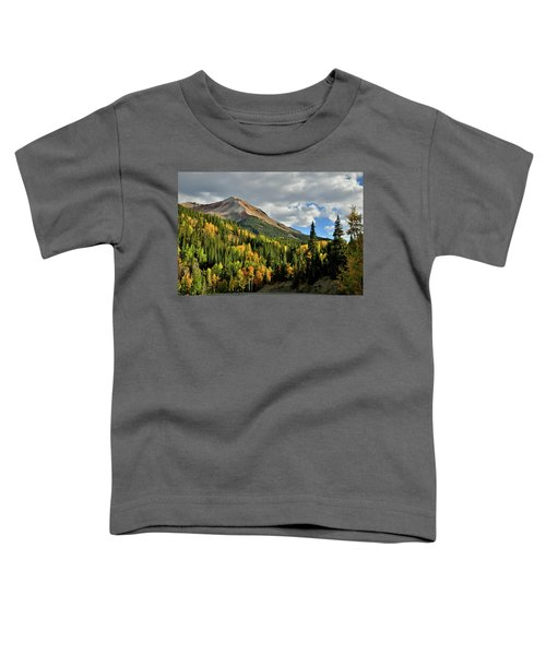 Fall Color Aspens Beneath Red Mountain Toddler T-Shirt