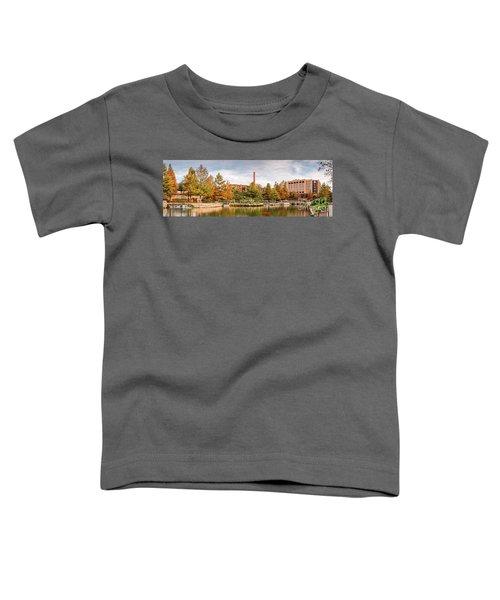 Fall Panorama Of Pearl Brewery, Hotel Emma, And San Antonio Riverwalk - Bexas County Texas Toddler T-Shirt